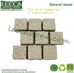 Interlocking ledge rock granite cobblestone mat
