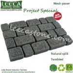 Oman dark grey granite driveway mat stone paving