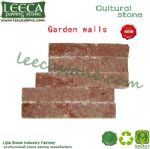 Red rose cultural stone garden wall decor