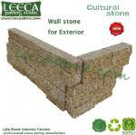 Cultural stone corner garden wall stone landscape edging
