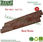 Imperial red garden wall stone veneer strata rock