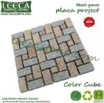 Granite color cube french pattern paving