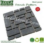 Permeable cobble system french pattern cobblestone mat