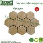 Yellow granite stone flower hexagon paver