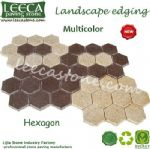 Multi color hexagon paver interlocking cobblestone paver