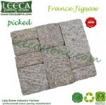 France jigsaw picked finish mesh back paver