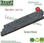 Green rose garden wall stone landscape edging