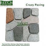 Natural finish mix color crazy paving pavers florida