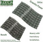 Basalt granite G654 wavy paver lowes paving stones Bahrain