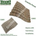 Plaza walkway decor stone granite G681 G682