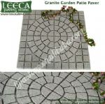 Granite garden patio paver light grey paving stone