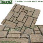 Tumbled granite mesh paver French pattern paving tile