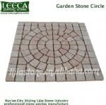 Garden stone circle Beige yellow granite natural stone