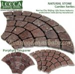Red brick prices fan shape stone paving