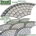 Steel grey granite mesh paver plaza walkway stone