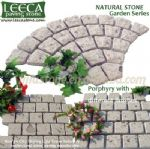 White rose stone fan-shaped porphyry paver