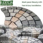 Mixcolor granite mesh paver permeable cobble system