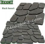 Diamond black cobblestone random stone paver