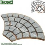Light gray granite G603 fan-shaped mesh paver