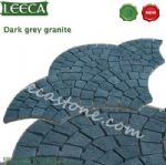 Top natural paver dark gray granite stone paving