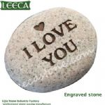 Engraved cobble stone gift word stone