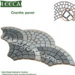 Fan-shaped granite paver paving stone mold