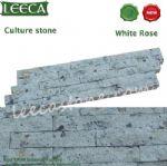 White rose porfido garden cultural stone