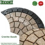 Fan-shaped, moulds for paving stones plaza decorative paver