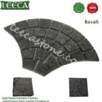 Fan-shaped basalt paver ledge rock stone paving