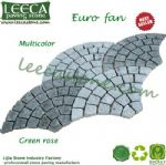 Multicolor mesh paver green rose stone mats