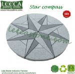 Chinese grey granite star compass  paving stone circle