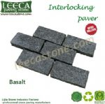 Interlocking basalt paver flagstone mat mesh stone tile