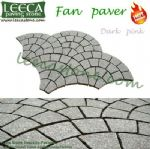 Fan shaped Pink granite floor tile