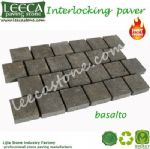 Interlock pavers basalto paving stone