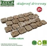 Rusty yellow granite Garden path cobblestone mat