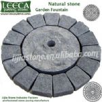 Water feature,round stone paving,paver art