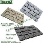 Driveway stone mat,tumbled stone,cobbles