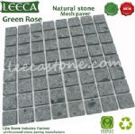 Cobble large square,stone cube,green porphyry