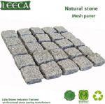 Mesh back cobble stone,stone tumbled,granite types