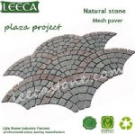 Fan cube,mesh back cobble stone,outdoor paving