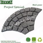 Euro fan natural garden cobblestone paver