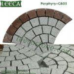 Porphyry G603 fan shape stone paver