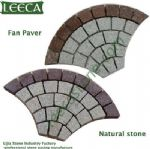 Granite, Porphyry fan shape natural paver