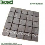 Square shape dark grey paving slabs