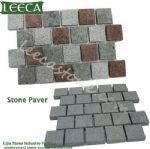 Porphyry/ porfido stone paver, mesh on back