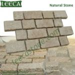 Crema marfil granite interlocking paving stone