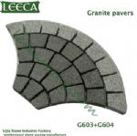 Granite G603+G604 fan shape pavers United Arab Emirates