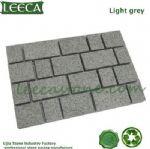 Chinese light grey granite mesh paving stone