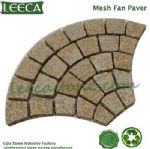 Crema marfil granite, mesh fan paver