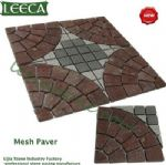 Porphyry lucky star stone mesh paver